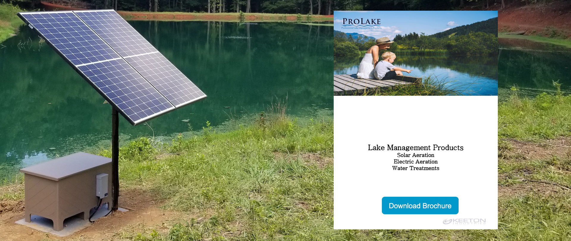 Solared Powered Aeration from ProLake Lake Management Products