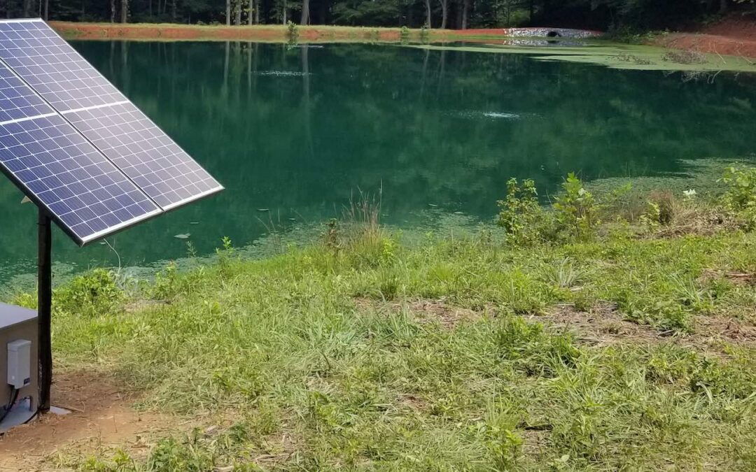 Solar-Powered Aeration for Pond Maintenance
