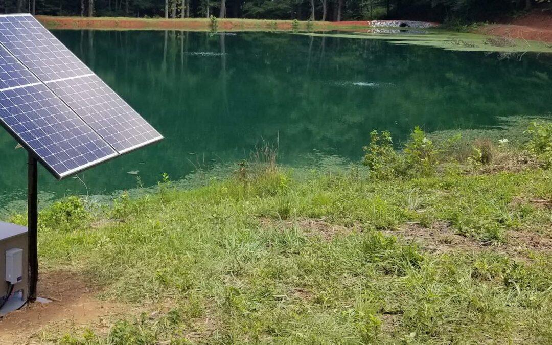 Solar-Powered Aeration for Pond Maintenance