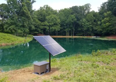 Solar Powered Aeration eliminates need for costly electrical installation