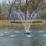 Solar Powered Fountains for your lake or pond
