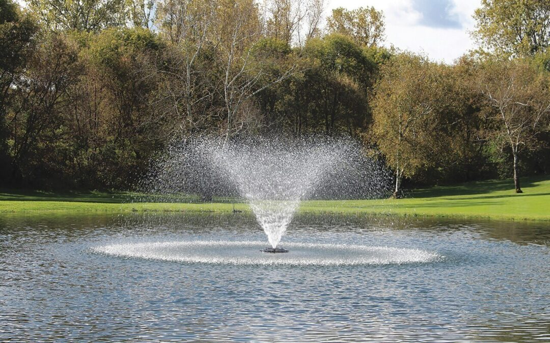 Install a Pond Fountain for better looking ponds