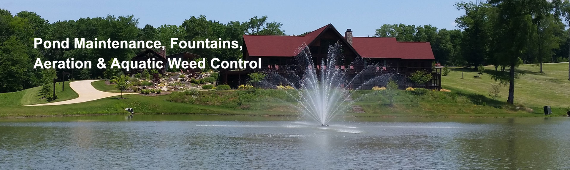 Pond Maintenance, Weed Control, Fountains and Aeration