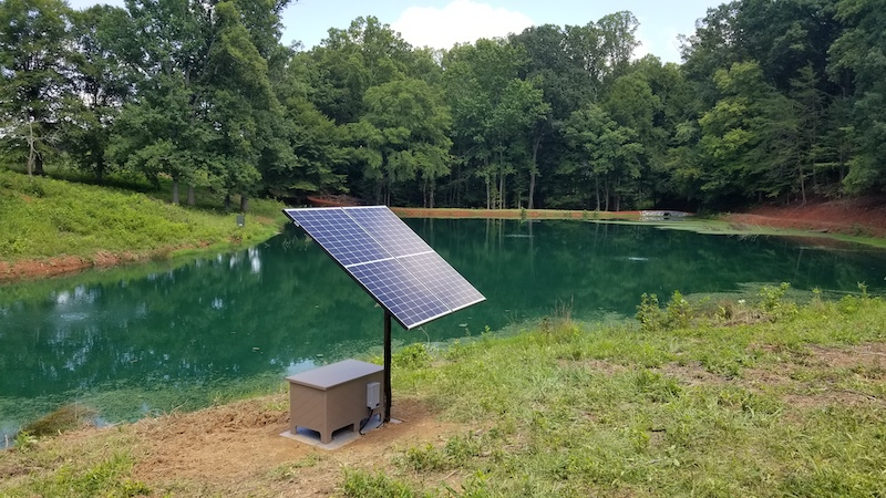 Solar Power Driven Pond Fountain and Aerator Controllers
