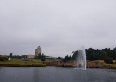 Pond Fountain at Grandover Resort in North Caroliina